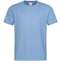 vaatteet Miehet Lyhythihainen t-paita Stedman  Light Blue