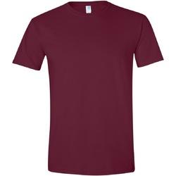 vaatteet Miehet Lyhythihainen t-paita Gildan Soft-Style Maroon