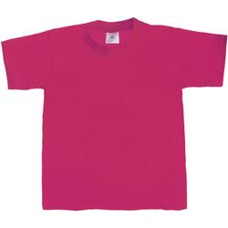 vaatteet Lapset Lyhythihainen t-paita B And C TK301 Sorbet