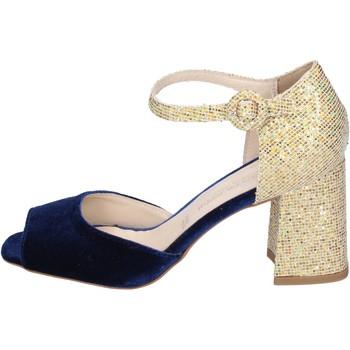 kengät Naiset Sandaalit ja avokkaat Olga Rubini sandali velluto glitter Blu