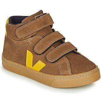 kengät Lapset Korkeavartiset tennarit Veja SMALL-ESPLAR-MID Brown / Yellow