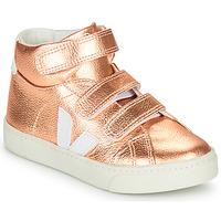 kengät Tytöt Korkeavartiset tennarit Veja SMALL-ESPLAR-MID Pink