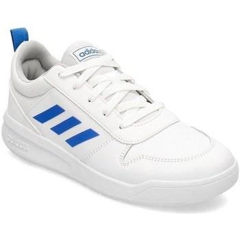 kengät Lapset Derby-kengät & Herrainkengät adidas Originals Tensaur K Valkoiset, Vaaleansiniset