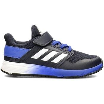 kengät Pojat Matalavartiset tennarit adidas Originals Fortafaito EL K Valkoiset, Vaaleansiniset, Grafiitin väriset