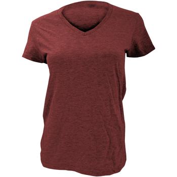 vaatteet Naiset Lyhythihainen t-paita Anvil Basic Independence Red