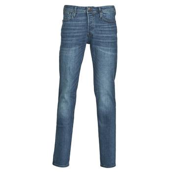 vaatteet Miehet Slim-farkut Jack & Jones JJITIM Blue / Fonce