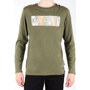 vaatteet Miehet T-paidat pitkillä hihoilla Lee L848AI olive green