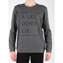 vaatteet Miehet T-paidat pitkillä hihoilla Lee Dont Lie Tee LS L65VEQ06 grey