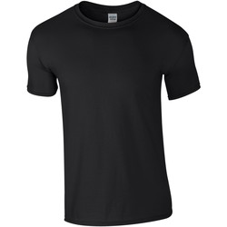 vaatteet Miehet Lyhythihainen t-paita Gildan Soft-Style Black
