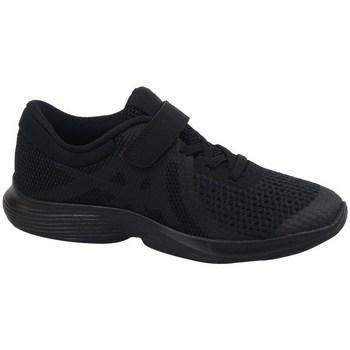 kengät Lapset Matalavartiset tennarit Nike Revolution 4 PS Mustat