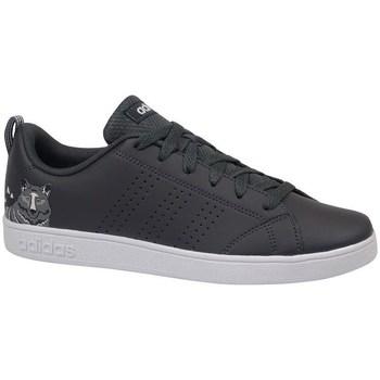 kengät Lapset Matalavartiset tennarit adidas Originals VS Advantage CL K Valkoiset,Mustat