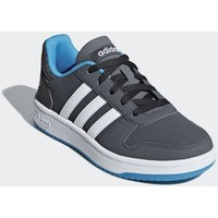 kengät Lapset Matalavartiset tennarit adidas Originals Hoops 20 K Harmaat,Grafiitin väriset