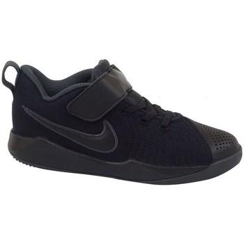 kengät Lapset Matalavartiset tennarit Nike Team Hustle Quick 2 PS Mustat