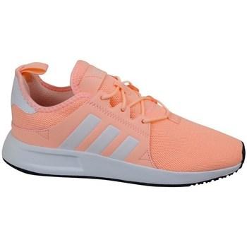 kengät Tytöt Matalavartiset tennarit adidas Originals X Plr C Harmaat,Oranssin väriset