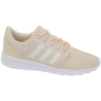 kengät Naiset Matalavartiset tennarit adidas Originals QT Racer Valkoiset,Beesit