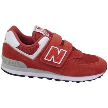 kengät Lapset Matalavartiset tennarit New Balance YV574EC Punainen
