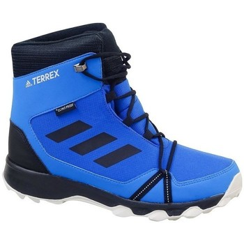 kengät Pojat Talvisaappaat adidas Originals Terrex Snow CP CW K Mustat,Vaaleansiniset