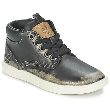 kengät Lapset Bootsit Timberland GROVETON LEATHER CHUKKA Black