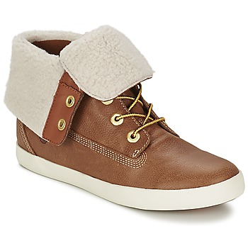 kengät Naiset Bootsit Timberland GLASTENBURY FLEECE FOLD DOWN brown