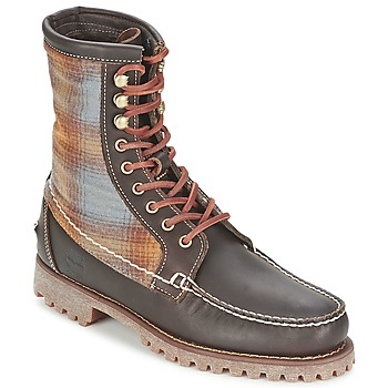 kengät Miehet Bootsit Timberland AUTHENTICS 8 IN RUGGED HANDSEWN F/L BOOT Brown / Fonce / Feutre