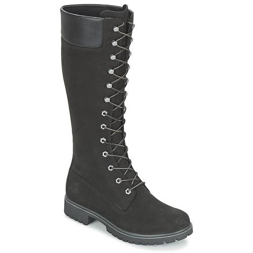kengät Naiset Saappaat Timberland WOMEN'S PREMIUM 14IN WP BOOT Black