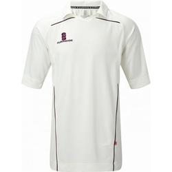 vaatteet Miehet Lyhythihainen t-paita Surridge SU009 White/ Maroon trim