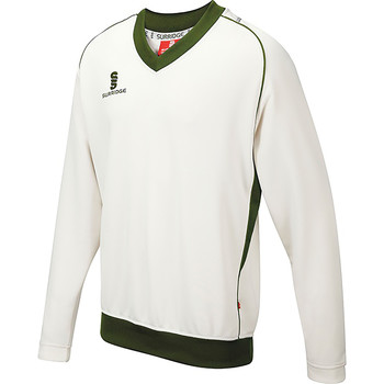 vaatteet Miehet Svetari Surridge SU008 White/ Green trim