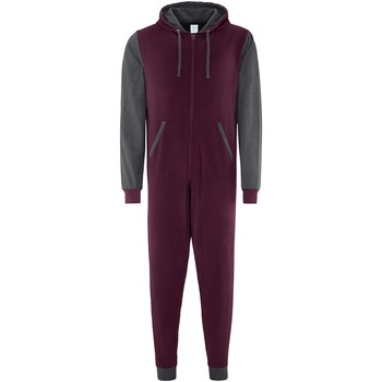 vaatteet Jumpsuits / Haalarit Comfy Co CC003 Burgundy/Charcoal