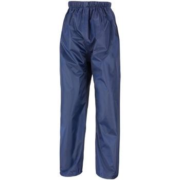 vaatteet Lapset Verryttelyhousut Result R226J Navy Blue