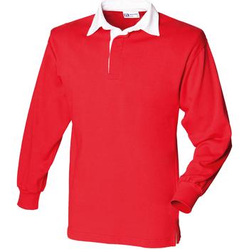 vaatteet Lapset Pitkähihainen poolopaita Front Row  Red