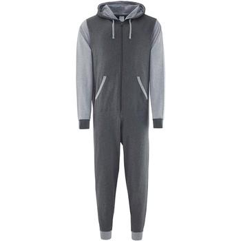 vaatteet Jumpsuits / Haalarit Comfy Co CC003 Charcoal/Heather Grey