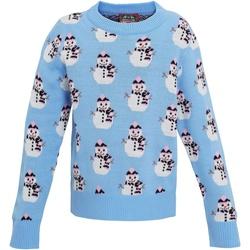 vaatteet Tytöt Svetari Christmas Shop CS027 Light Blue