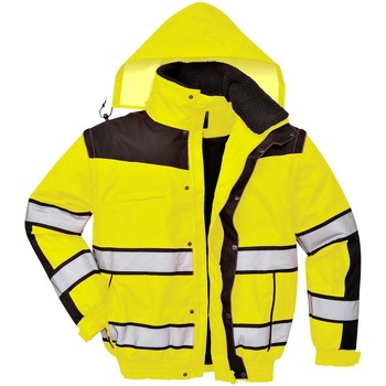 vaatteet Miehet Tuulitakit Portwest PW332 Yellow/ Black