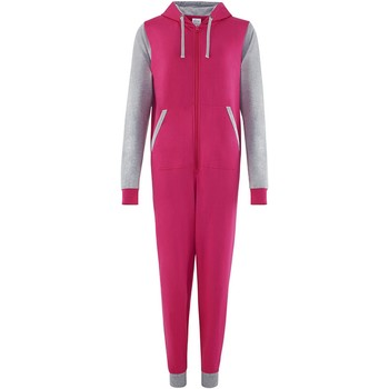 vaatteet Jumpsuits / Haalarit Comfy Co CC003 Hot Pink/Heather Grey