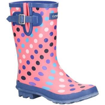 kengät Naiset Kumisaappaat Cotswold  Pink/Multi Spot