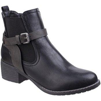 kengät Naiset Bootsit Divaz  Black