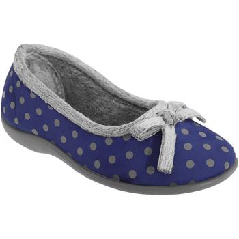 kengät Naiset Tossut Sleepers Polka Navy