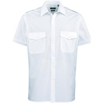 vaatteet Miehet Lyhythihainen paitapusero Premier PR212 Light Blue