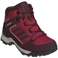 kengät Lapset Vaelluskengät adidas Originals Hyperhiker K Tummanpunainen,Punainen