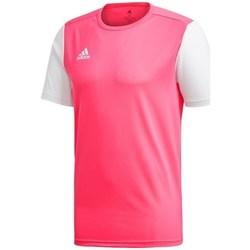 vaatteet Miehet Lyhythihainen t-paita adidas Originals Estro 19 Valkoiset, Vaaleanpunaiset