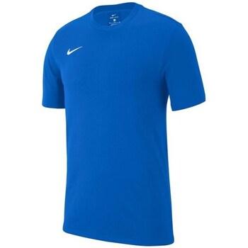 vaatteet Pojat Lyhythihainen t-paita Nike JR Team Club 19 Vaaleansiniset