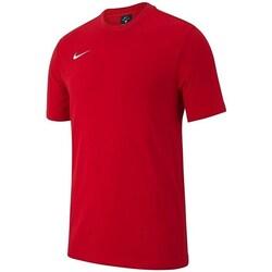 vaatteet Pojat Lyhythihainen t-paita Nike JR Team Club 19 Punainen