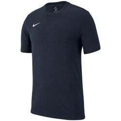 vaatteet Pojat Lyhythihainen t-paita Nike JR Team Club 19 Mustat