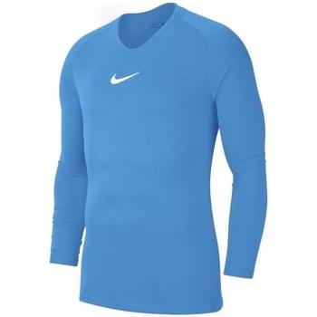 vaatteet Pojat T-paidat pitkillä hihoilla Nike JR Dry Park First Layer Vaaleansiniset