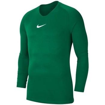 vaatteet Miehet T-paidat pitkillä hihoilla Nike Dry Park First Layer Vihreät