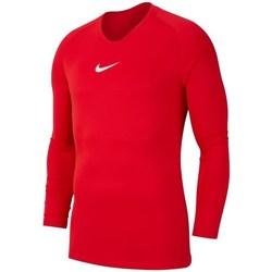 vaatteet Miehet T-paidat pitkillä hihoilla Nike Dry Park First Layer Punainen