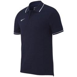 vaatteet Miehet Lyhythihainen poolopaita Nike Team Club 19 Mustat