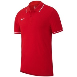 vaatteet Miehet Lyhythihainen poolopaita Nike Team Club 19 Punainen