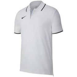 vaatteet Miehet Lyhythihainen poolopaita Nike Team Club 19 Valkoiset