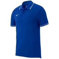vaatteet Miehet Lyhythihainen poolopaita Nike Team Club 19 Polo Vaaleansiniset